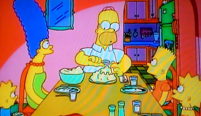 Homer_Simpson_Clown_college_eating_dinner